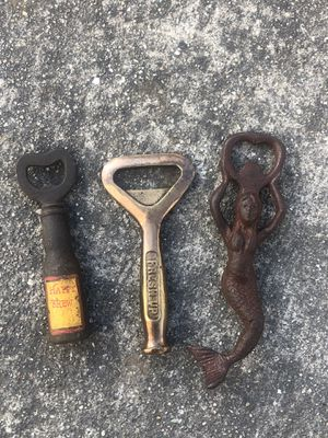 Bottle opener cast iron antique finish $20 each for Sale in Livermore, CA