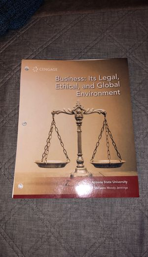Business: It's Legal, Ethical, and Global Environment for Sale in Mesa, AZ