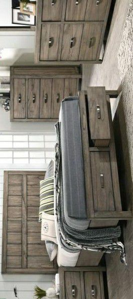 Arcadia Gray Storage Platform Bedroom Set (Queen & King Bed frame, nightstand, mirror, dresser){chest, mattress, box spring available} for Sale in Houston, TX