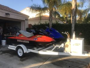 2013 Yamaha wave runner jet ski & 2003 bombardier sea doo for Sale in Moreno Valley, CA