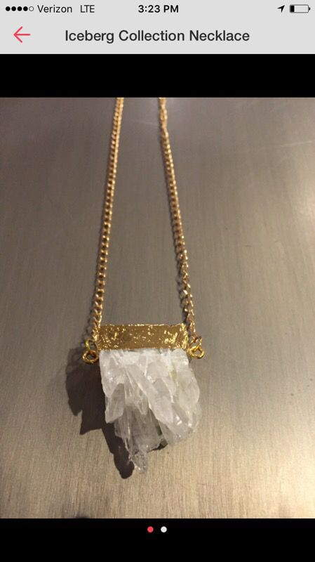 Druzy Crystal necklace