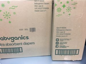 New - Babyganics Ultra Absorbent Diapers, Size 3, 184 Count for Sale in Alamo, CA