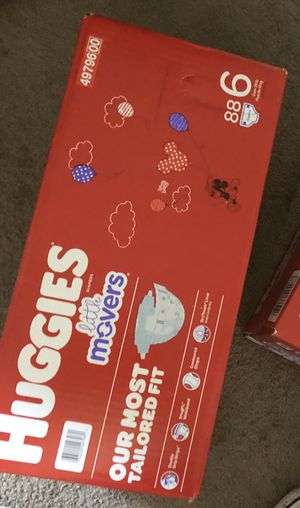 Brand new huggies little movers big box size 6 (88 diapers) (retail $39.99 plus tax) for Sale in Midway City, CA