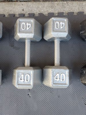 Pair Of 40s Dumbells Free Weights for Sale in Steilacoom, WA