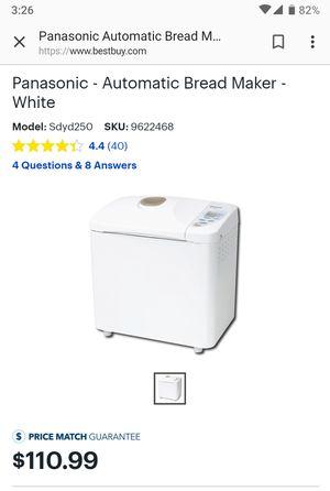 Panasonic Bread Maker machine for Sale in Mountain View, CA