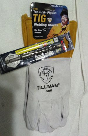 Tig gloves and hammer drill bit for Sale in Augusta, GA