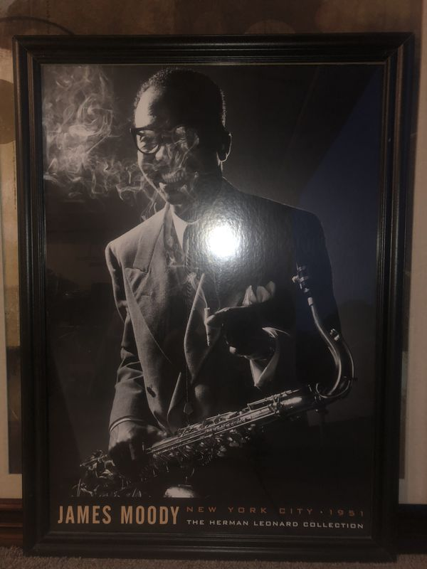 James Moody glass framed poster
