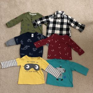 Lot(6) Toddler Boy Long Sleeve Shirts For $8 for Sale in Greer, SC