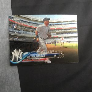 Gleyber Torres Chrome Rookie Baseball Card for Sale in Newport Beach, CA