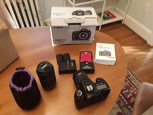 Canon 7d MII with lenses for Sale in Arlington, VA