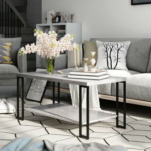 BRAND NEW!!!!! Accent Coffee Table with Metal Frame and Lower Shelf for Sale in San Bernardino, CA