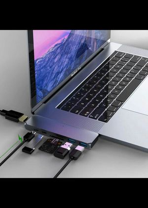 USB C Hub MacBook Pro USB Accessories, USB C MacBook Adapter Multiport, Type C Dual Hub with 4K HDMI Output, USB C Power Delivery, for MacBook Pro for Sale in Queens, NY