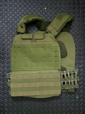 New tactical velcro unisex green army military style weight or plate carrier vest for Sale in San Diego, CA