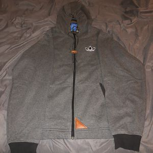 Adidas Vintage hoodie with leather accents for Sale in Philadelphia, PA