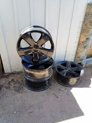 """Jeep 20"""" black rims with center caps for Sale in Mesa, AZ"""