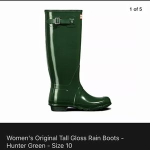 BRAND NEW IN BOX HUNTER RAIN BOOTS TALL for Sale in Tigard, OR