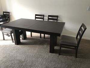 Cherry wood dining table with 5 chairs for Sale in Salt Lake City, UT