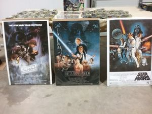 Star Wars collection with posters for Sale in Fort Worth, TX