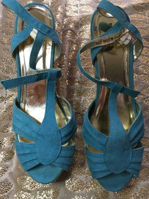 Teal Blue Wedge Heels for Sale in Crest Hill, IL