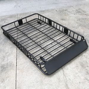 """(NEW) $125 Universal Roof Rack Car Top Cargo Basket Carrier w/ Extension Luggage Holder 64""""x39""""x6.5"""" for Sale in El Monte, CA"""