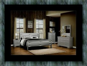 11pc Grey Marley bedroom set with mattress for Sale in Gambrills, MD