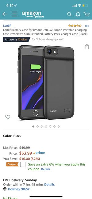 iPhone 7-8 rechargeable case for Sale in Downey, CA