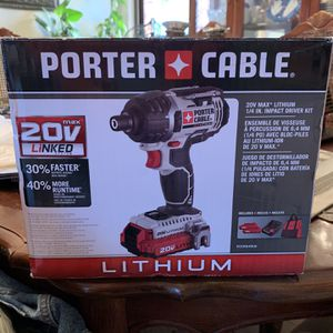 PORTER-CABLE 20V MAX Cordless Impact Driver Kit, 1/4-Inch, Tool Only (PCCK640LB) for Sale in East Windsor, NJ