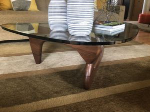 Noguchi authentic signed coffee table walnut for Sale in Fort Worth, TX