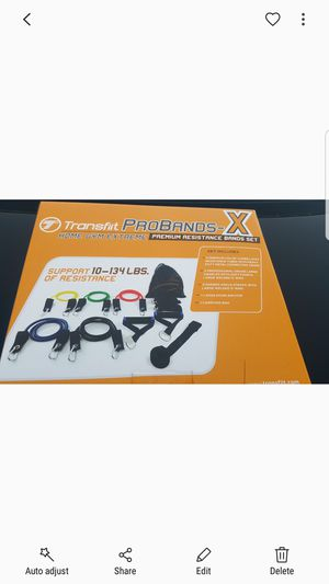 Resistance Band Set Premium new in retail box (Heavy Duty-Prograde) Home Gym in a Box [ 11pc / 134lbs Total resistance ] for Sale in Anaheim, CA