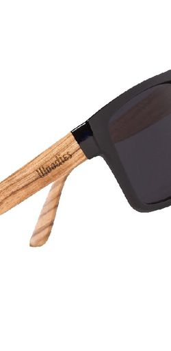 WOODIES Polarized Zebra Wood Sunglasses for Men and Women | Black Pola for Sale in Woodbridge,  VA