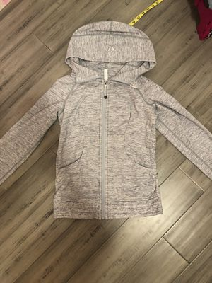 Lululemon scooba hoodie size 6 grey jacket gray work out for Sale in Imperial Beach, CA