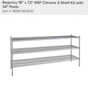 "New 18"" x 72"" NSF Chrome Shelf for Sale in Lowell, MA"