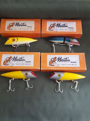 Martin wooden fishing plugs(4) for Sale in Fountain, CO