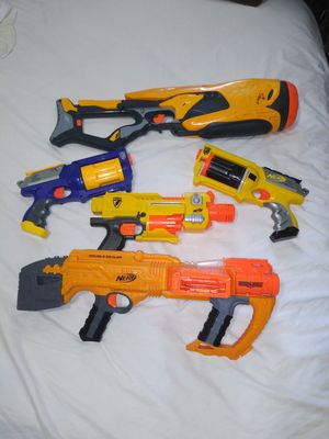 Lot of 5 Nerf guns N-strike, Dart tag, etc for Sale in Fort Lauderdale, FL