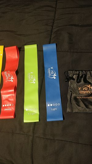 Fit simplify resistance bands for Sale in Riverbank, CA