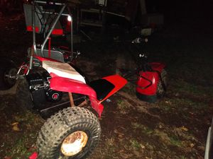 Honda truck Coleman mini bike a razor pit bike another mini bike and a Baja Rock bug for Sale in Dalton, GA