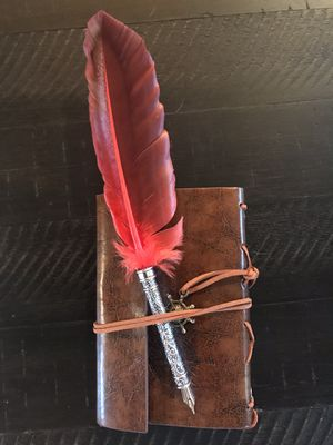 Leather bound nautical journal and heavy duty fountain pen for Sale in Las Vegas, NV