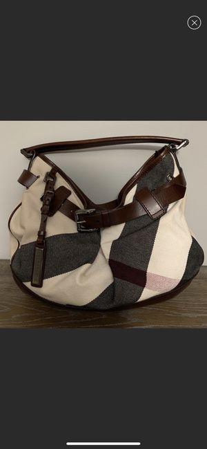 100% authentic Burberry nova check hobo shoulder bag - great condition for Sale in La Jolla, CA