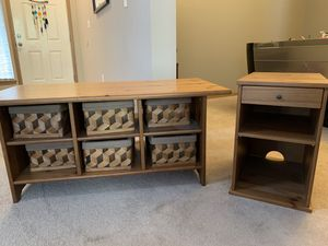 Coffee Table with storage and matching End Table. for Sale in Bonney Lake, WA