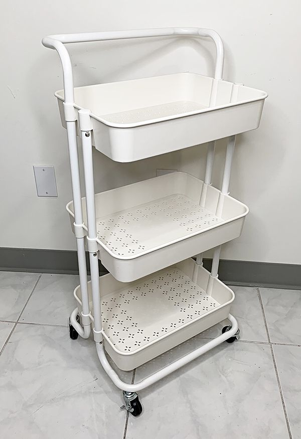"New $30 each 3-Tier Rolling Utility Cart Mobile Storage Oranizer Home Office 17x14x34"" (2 Color)"