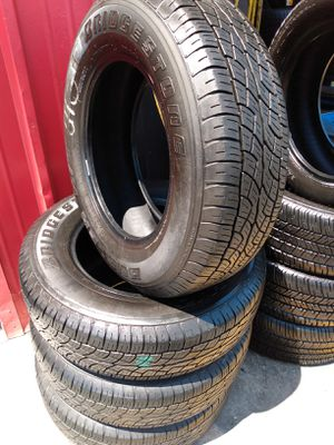 Set 225/70/16 Bridgestone Dueler H/T used $260 Includes installation and balance for Sale in Cypress, CA