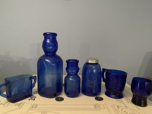 Blue glass collection for Sale in undefined
