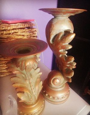 Two fall inspired candle holders for Sale in Romeoville, IL