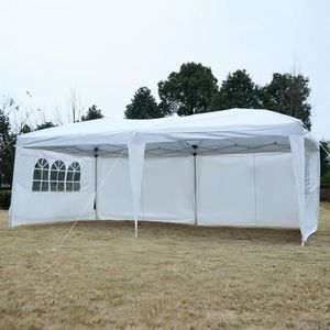 10x20ft Folding Gazebo Steel Frame Wedding Party Gazebos Available in White or Green Tent Shelter for Sale in Sacramento, CA