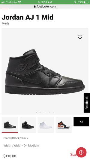 Jordan AJ 1 Mid - right foot shoe only for Sale in Fontana, CA