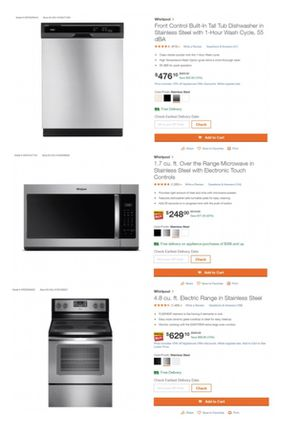 New Whirlpool Appliances: Dishwasher, Microwave, Stove, Washer and Dryer for Sale in Lake Worth, FL