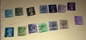 Mixed lot of 14 used stamps of Great Britain. Best offers considered for Sale in New York, NY