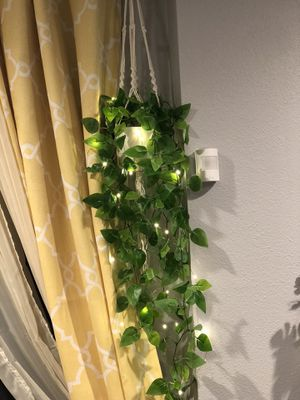 Mixed Artificial Ivy in Beautiful Macrame with Remote Controlled 16FT Fairy 🧚‍♀️ Lights for Sale in Chino Hills, CA