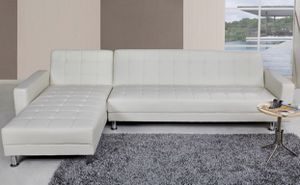 White Reclinable Sectional for Sale in Silver Spring, MD