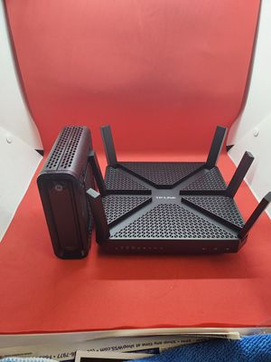 Router y módem modificado for Sale in E RNCHO DMNGZ, CA